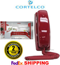 CORTELCO TRIMLINE RETRO NOSTALGIC RED BASIC CORDED DESK WALL PHONE 8150 NEW