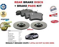 für Renault Megane III Coupe 2009- > Bremsscheiben SET HINTEN+Bremsbelagsatz