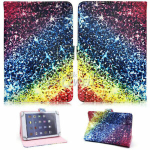 """7/8/10.1"""" Universal Leather Tablet Case Keyboard Cover Stand For Samsung Galaxy"""