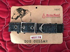 NEXT Dog Collar Harris Tweed Wool Size M (Medium) New Condition