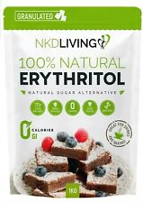 Erythritol Zero Calorie Sweetener by NKD Living 1kg (Granulated) UK Seller