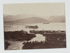 ANTIQUE ALBUMEN PHOTO, BORROMEAN ISLANDS. ITALY.