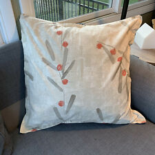 Crate & Barrel Osaka Euro Pillow Sham Zen Garden Japanese Style Orange Neutral