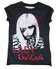 AMPLIFIED LADY GAGA Strass Rock Star Vintage Designer ViP WoW T-Shirt S 36/38