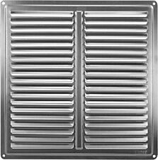 """Stainless Steel Air Vent Grille Cover 250x250mm (10x10"""") Metal Ventilation Cover"""