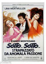 manifesto 2F orig. SOTTO SOTTO STRAPAZZATO Enrico Montesano Veronica Lario 1984