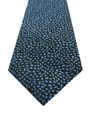NEW MENS ALFANI BRETON ABSTRACT BLUE BLACK POLY NECK TIE $52