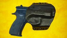 HOLSTER COMBO BLACK CARBON KYDEX FITS CZ 2075 RAMI WITH DOUBLE MAG HOLSTER OWB
