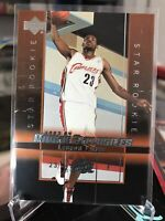 2003-04 Upper Deck Exclusives Lebron James #1 Rookie RC Error Print Lines