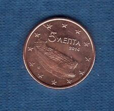 Gréce - 2014 -  5 centimes d'euro - Pièce neuve de rouleau -