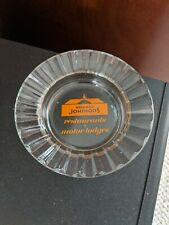 Howard Johnson's Clear Glass Ashtray With Orange Logo-Good Condition-Free Ship