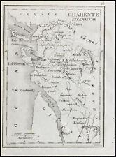 1830ca - Charente inférieure (Maritime)- Carte ancienne du département. Tardieu