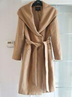 Beautiful HOBBS Valence Women Camel MidLength Coat UK8 65%Angora 35%Wool RRP£329