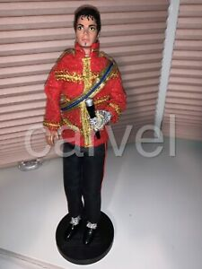 1984 12 inch LJN Michael Jackson Figure American Music Awards Outfit with Stand