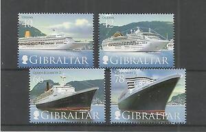 GIBRALTAR 2007 CRUISE SHIPS 3RD SERIES SG,1207-1210 U/MM N/H LOT 3842A