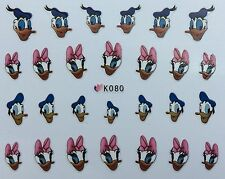 Nail Art 3D Decal Stickers Girl & Boy Duck K080