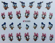 Nail Art 3D Decal Stickers Girl & Boy Duck K080