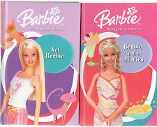 BARBIE YOUNG READER SERIES x 2: #1 BARBIE IN THE MOVIES & #3 VET BARBIE