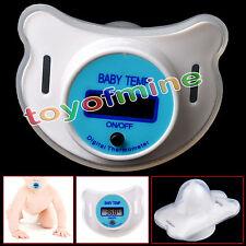 Termómetro Chupete Seguridad Digital LCD Infantil Bebé Pezón Nipple Thermometer