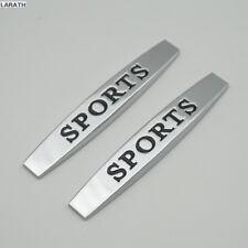 1 Paar Metal Sticker Aufkleber Sports 9,8x1,5cm Fender Emblem Badge Logo Auto