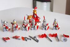 castle knight minifig,+horse/armor/helmet/weapon/shield,fm Sydney,new