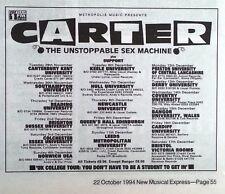 CARTER USM UK Tour 1994 mini Press ADVERT 5x5  inches