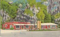 Eulonia, GEORGIA - Mossy Oaks Motel Restaurant - ROADSIDE - 1957