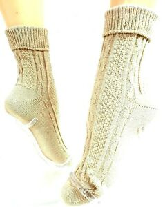 """Socks with Cover """" Beige """" Gr.35-38, 39-42 Cotton"""