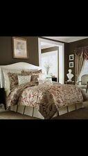 Croscill Avery Queen RED & BEIGE Comforter Set & Boudoir Pillow $300+  5 PIECES