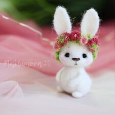 Needle felting Wool Bunny  : Felted  toy Handmade Rabbit