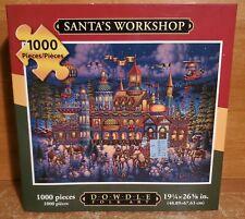 Dowdle SANTA's WORKSHOP 1000 Piece Jigsaw Puzzle, Excellent