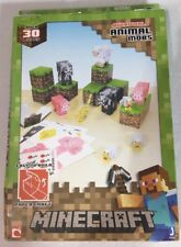 MINECRAFT OVERWORLD ANIMAL MOBS Paper Craft Kit 30 Pieces Mojang 2013 NEW!