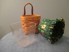 1996 Longaberger Small Hanging Basket with Liner and Protector
