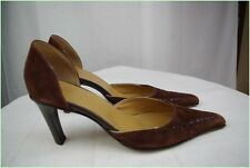 Open Court Shoes ROSA LIPTY Suede Brown T 40 VERY GOOD CONDITION