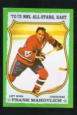 1973 -  1974 Topps Hockey Set FRANK MAHOVLICH  ALL STAR CARD
