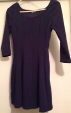 Charlotte Russe 3/4 Sleeve Navy Pleated Dress Size Large