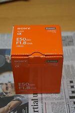 Sony SEL SEL50F18 50mm F/1.8 OSS Lente. E-Mount. Plata. Reino Unido stock. a estrenar. Reino Unido.