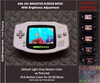 GameBoy Advance GBA Backlit Mod AGS101 LCD with 5 Level Brightness Switch- WHITE