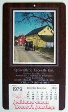*ANCIEN CALENDRIER DU QUÉBEC DE 1979, QUINCAILLERIE LUCEVILLE ENR., BILINGUE