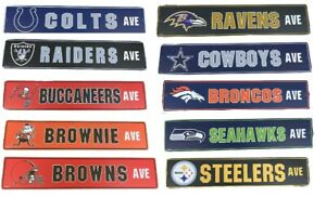 NFL Football Street Sign Ave Licensed Durable Man Cave Garage Wall Decor 5 x 24