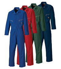 DICKIES WD4879 DELUXE ZIP BOILERSUIT REDHAWK TEFLON COATED WORK OVERALL COVERALL