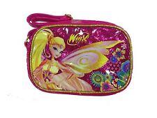 WINX tracolla regolabile rosa glitterataSTELLA 1 tasca23,5x16x8cm+bracciale omag