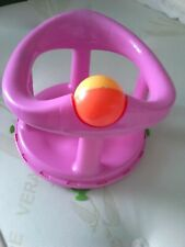 Pink Baby's Bath Seat with Suckers on Bottom