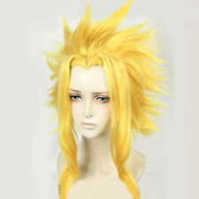 Anime My Hero Academia Boku All Might Yagi Toshinori Gold Halloween Cosplay Wig