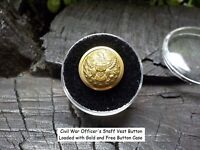 Old Rare Vintage Antique Civil War Relic Officers Staff Vest Button Loaded Gold