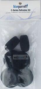 Blue Parrot VXI 6pc Foam Kit Ear Pads Cushions C400-XT Headset Parrott Mic