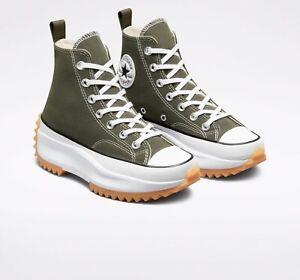 Converse Unisex Color Run Star Hike Hi Top Shoes Cargo Khaki/White 171667C f