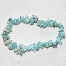 Larimar Blue Pectolite Dolphin Stone Crystal Chip Bracelet~Reiki~Pagan Jewellery