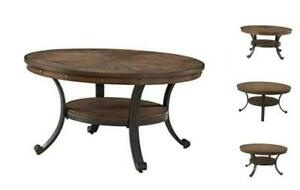 Franklin Cocktail Table, Small, Multicolor Brown