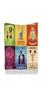 Colorful Tapestry Retro Circus Animals Print Wall Hanging Decor